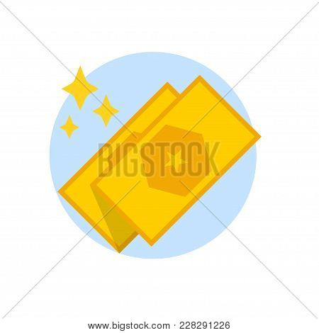 Discount Coupons, Gift Certificates Isolated On White Background. Vector Flat Icon.