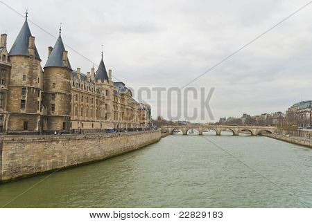 View On A Bridge At Paris