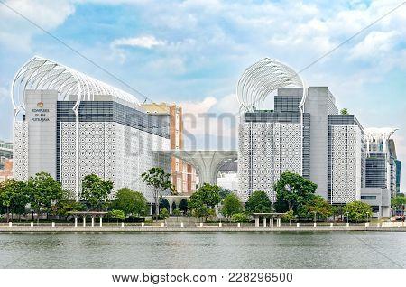 Cyberjaya, Selangor, Malaysia, 02/23/2018: Kompleks Islam Putrajaya, Beautiful Achievement Modern Ur