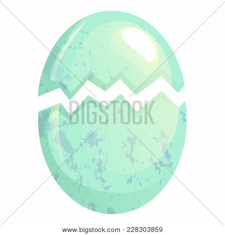 Cracked Bird Egg. Broken Egg Shell Vector Illustration