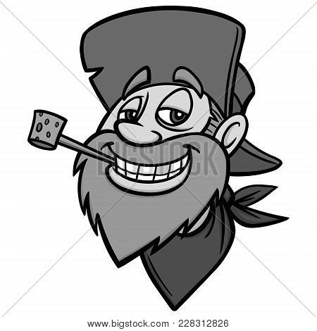 Got Gold Illustration - A Vector Cartoon Illustration Of A Gold Miner Mascot.
