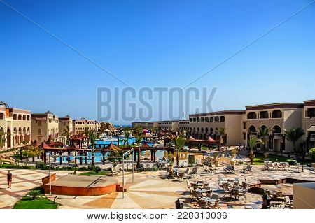 Hurghada, Egypt- February 22, 2010: View Of Luxury Resort In Egypt