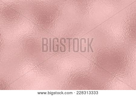 Foil Texture Background. Red Gold Pink Sparkle Glossy Texture Surface Backdrop. Vector Shiny Metalli