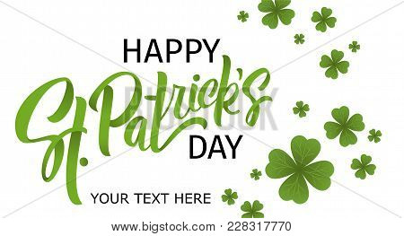 Happy St. Patrick's Day Banner.  Illustration Of A Beer Mug With Lettering St. Patrick's Day. Beer P