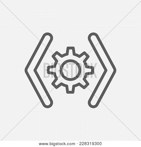 Web Code Icon Line Symbol. Isolated  Illustration Of  Icon Sign Concept For Your Web Site Mobile App