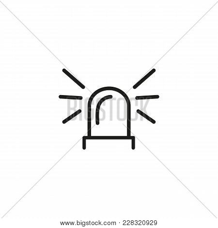 Line Icon Of Flasher Light. Police, Emergency, Siren. Warning Sights Concept. Can Be Used For Signbo