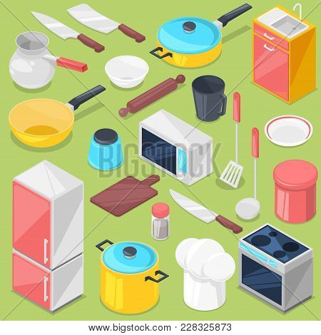 Kitchenware Vector Household Appliance And Cookware For Cooking Or Kitchen Utensils For Kitchener Is