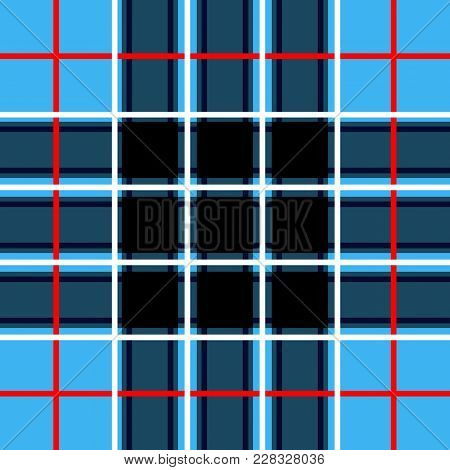 Scottish Cage, Blue Celtic. Scottish Blue Checkered Background. Scottish Pattern. Vector Illustratio