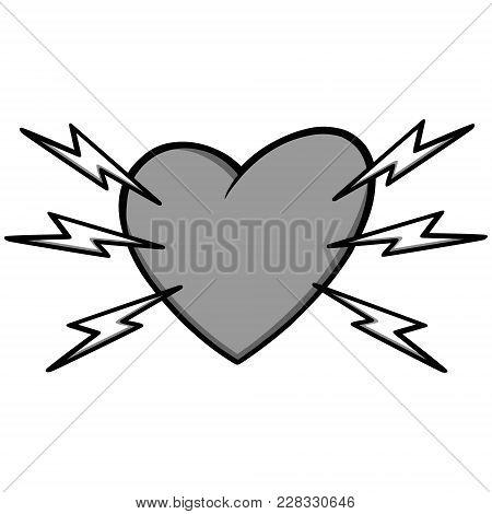 Heart Attack Illustration - A Vector Cartoon Illustration Of A Heart Attack Concept.