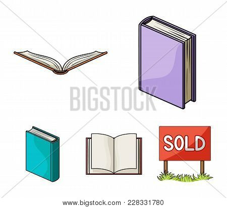 Various Kinds Of Books. Books Set Collection Icons In Cartoon Style Vector Symbol Stock Illustration