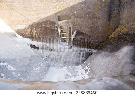 Interior Of Ice Covered The Cribs On Lake Superior, Minnesota