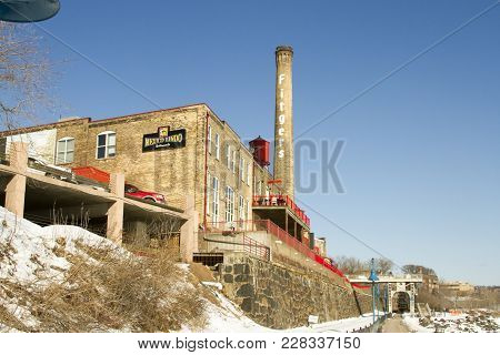 Fitgers Brewery Along Lake Superior In Duluth, Minnesota