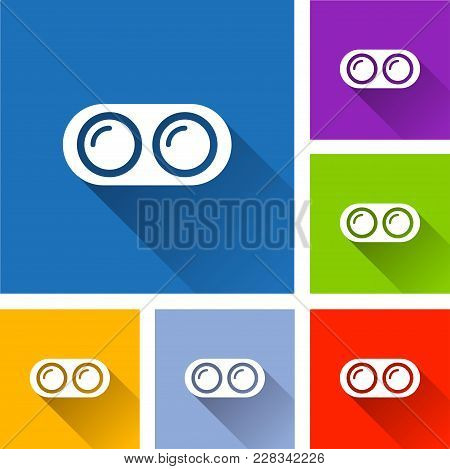 Illustration Of Dual Camera Icons With Shadow
