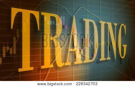 Forex Candlestick Pattern. Trading Chart Concept. Financial Market Chart. Trading Word. 3d Rendering