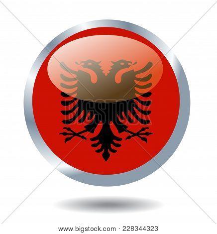 Albania Flag Illustration On White Background Art