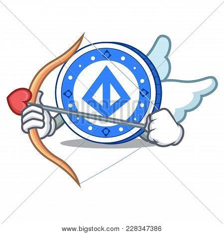 Cupid Loopring Coin Character Cartoon Vector Illustration