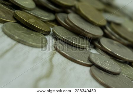 Yellow Russian Penny Coins Trifle Wealth Symbol .
