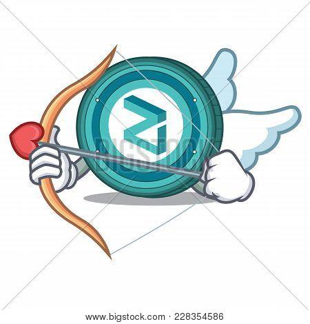 Cupid Zilliqa Coin Character Cartoon Vector Illustration