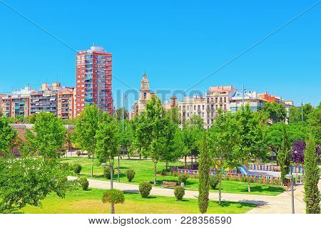 Urban Views Of Valencia, Is The Capital Of The Community Of Vale