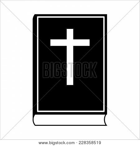 Bible Icon Isolated On White Background. Vector Illustration