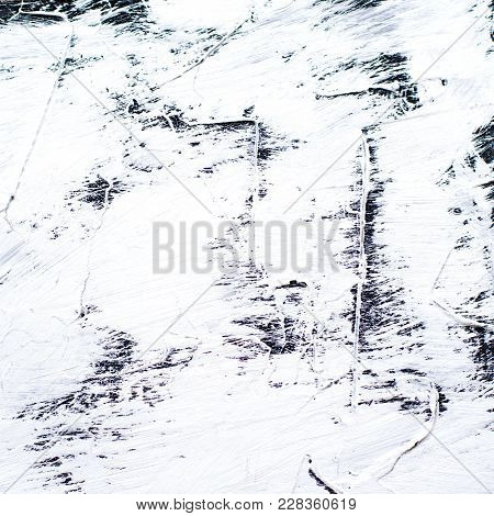 White Painted Cement Background With Broad Brush Strokes