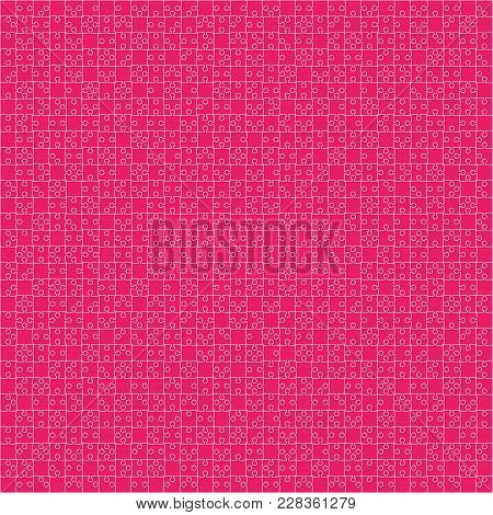 900 Pink Material Design Pieces Arranged In A Square - Jigsaw. Jigsaw Puzzle Blank Template.