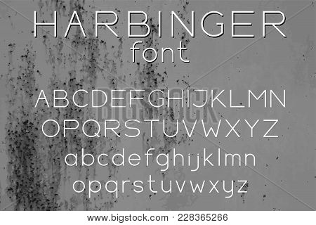 Wide Sans Serif Vector Font Uppercase And Lowercase Letters For Logo Design