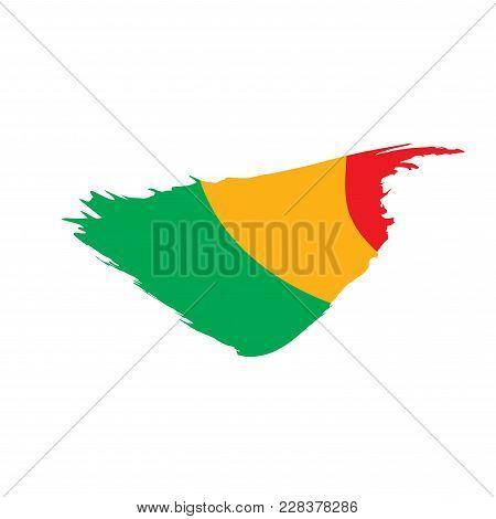 Mali Flag, Vector Illustration On A White Background