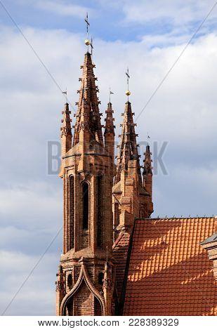 St. Anna's Church In Vilnius, Lithuania