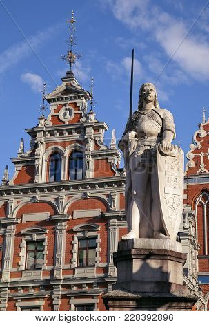 Top Of The House Of The Blackheads In Riga, Latvia