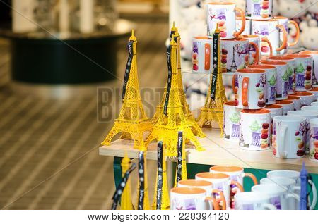 Paris, France - March 11, 2014: Last Minute Gift Store At Charles De Gaulle Airport
