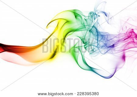 Gay Smoke Flag Isolated On A White Background
