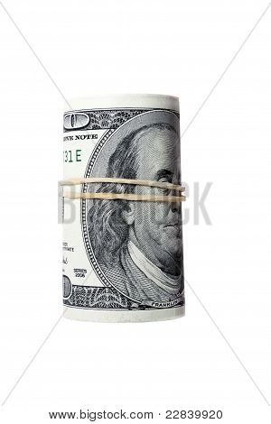 dollars in a roll