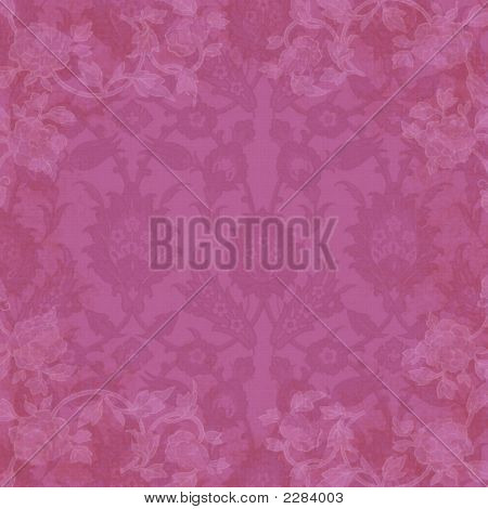 Background Pink Floral And Lace