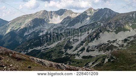 Prislop, Banikov, Hruba Kopa And Tri Kopy Peaks On Rohace Mountain Group From Hiking Trail Between Z
