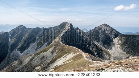 Prislop On The Left, Banikov On The Middle And Pachola On The Right From Hruba Kopa Peak On Rohace M