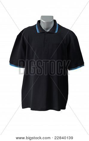 Front Of Clean Black T-shirts (polo)