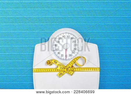 Measuring Tape Bathroom Scale Background Object Number Female Health