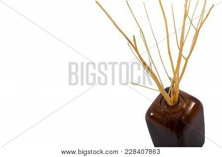 Reed Diffuser Room Aroma Oil Isolated On White Background