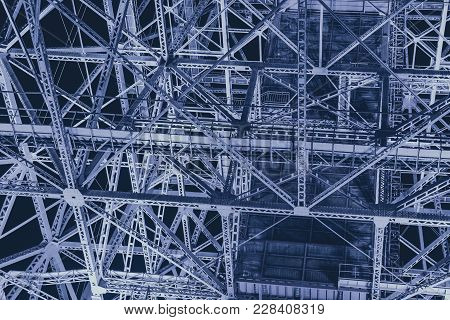 Steel Metal Industry Construction Futuristic Science Art Pattern Abstract For Background