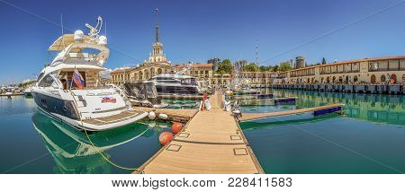 Sochi, Russia - May 21, 2016: Sochi Grand Marina.