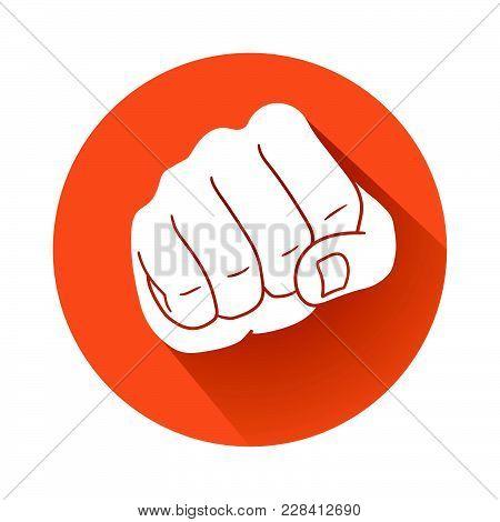 This Is A Fist Symbol Illustration On Orange Background