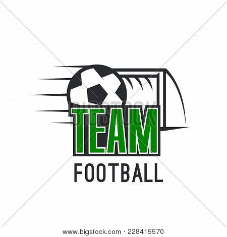 Modern Sign For Football League. Badge Of Soccer Football Club In Green, Black And White Colors. Bal