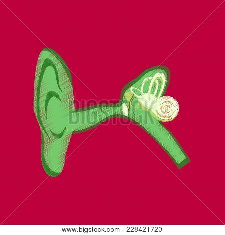 Flat Shading Style Icon Ear Medical Care