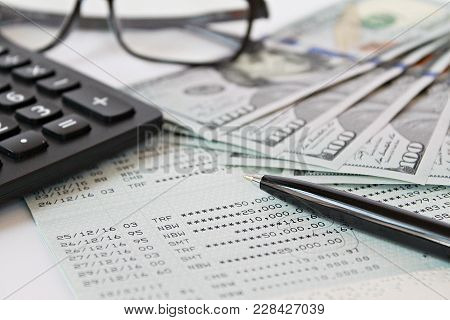 Business, Finance, Investment, Accounting Or Money Exchange Concept : American Dollars Cash Money, C
