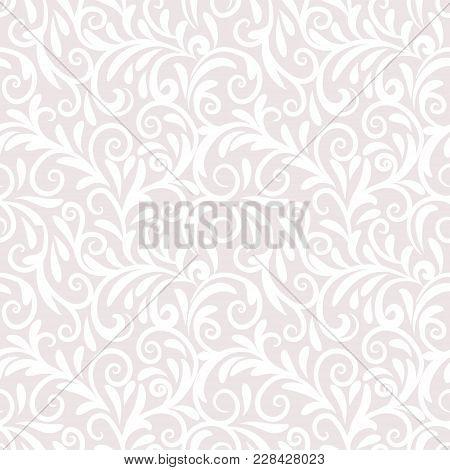 Seamless Background Baroque Style. Vintage Pattern. Retro Victorian. Ornament Damascus Style. Elemen