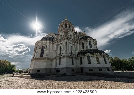 Novocherkassk, Russia - May 9, 2016: Beautiful Exterior Of Ascension Cathedral In Novocherkassk. It