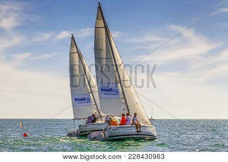 Sochi, Russia - May 21, 2016: Sailing Regatta In The Open
