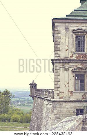 Old Castle. Podgoretsky Castle. Elements Of The Architecture Of The Ancient Castle.
