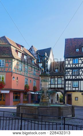 Details Of Colmar, Most Famous Town Of Alsace, France